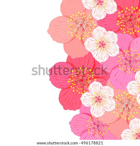 greeting card with flowering