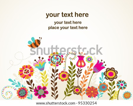 greeting card with flowers
