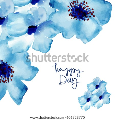 greeting card with flowers in