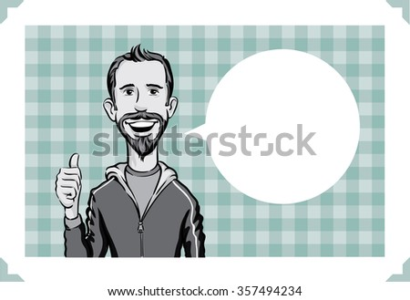 greeting card with happy man
