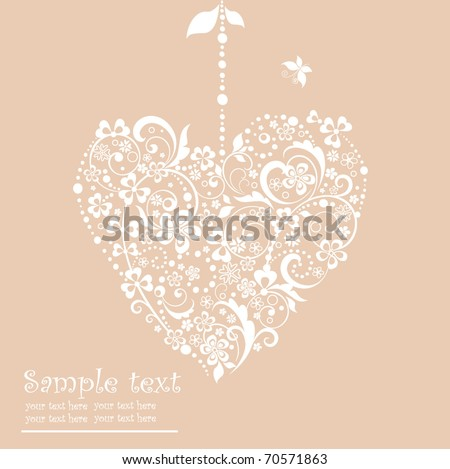 Greeting card with hearts