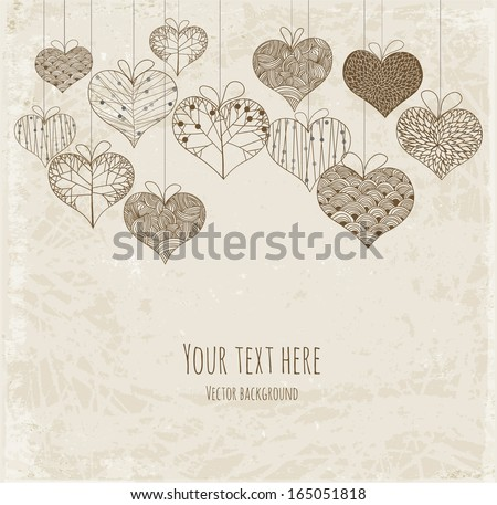 stock-vector-greeting-card-with-ornated-hearts-and-place-for-your-text-vector-illustration