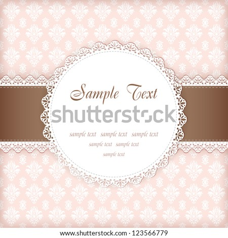 Greeting card with place for your text. Vector.
