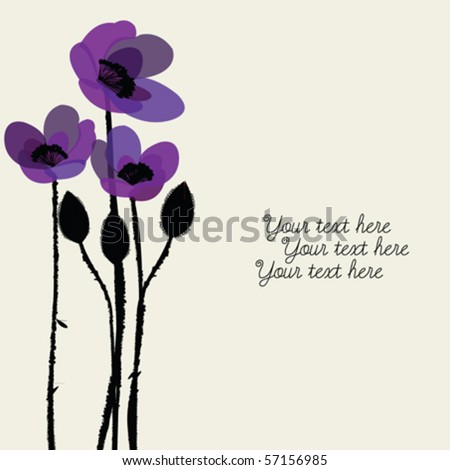 greeting card with purple