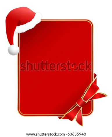 greeting card with santa hat