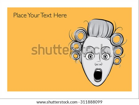 greeting card with shocked