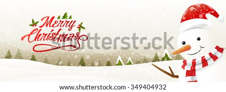 greeting card with snowman and