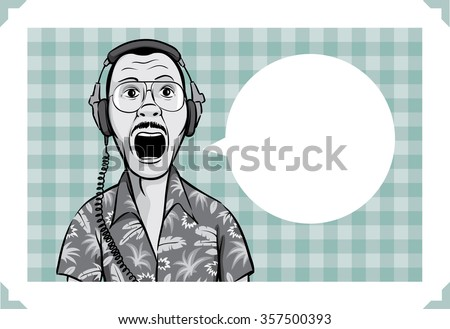 greeting card with surprised