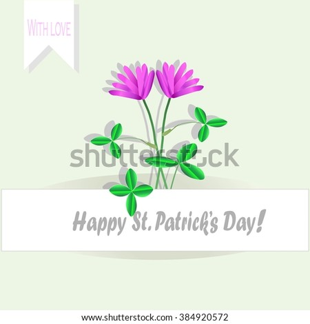 greeting card with the