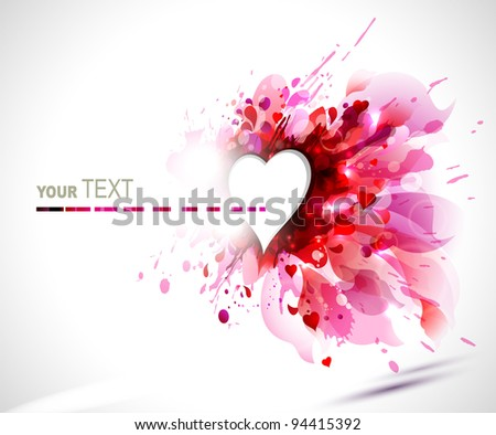 greeting-card with The Valentine's day - stock vector