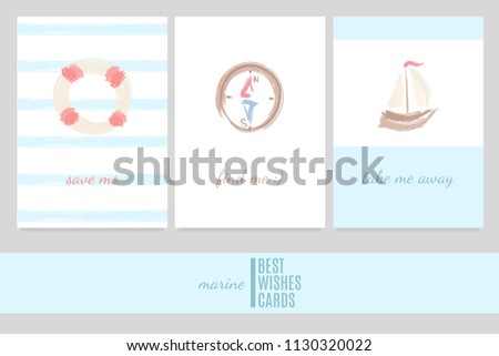 greeting cards in a marine