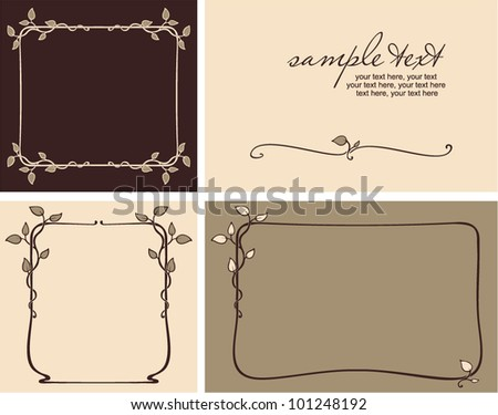 greeting cards set - invitation for party or wedding - stock vector