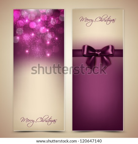 Greeting cards with bow