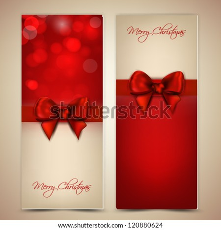 Greeting Cards with bow and copy space