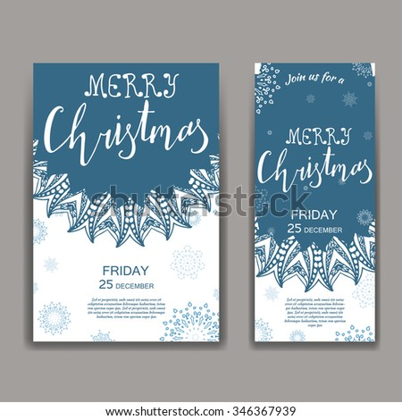 Greeting Christmas card. Hand drawn lettering Santa is watching. Vector christmas message design