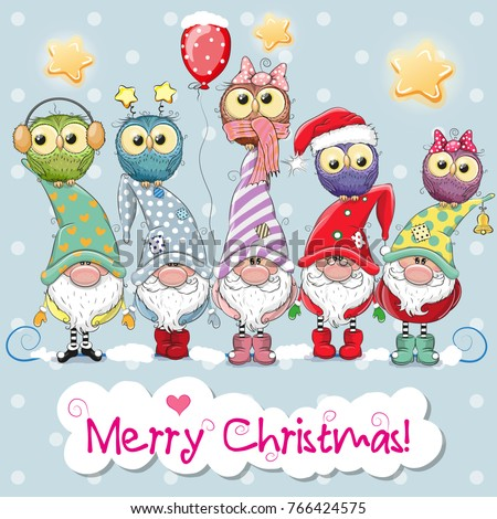 greeting christmas card with