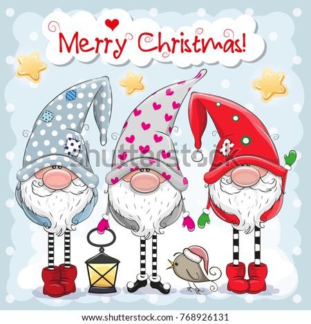 greeting christmas card with