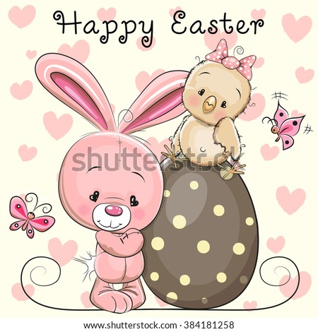greeting easter card cute