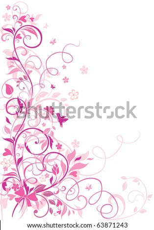 Greeting floral border