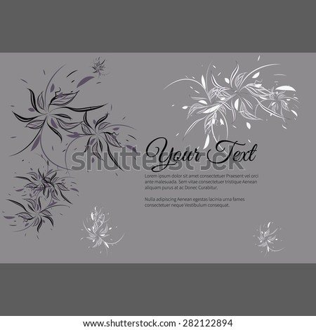 greeting invitation card with