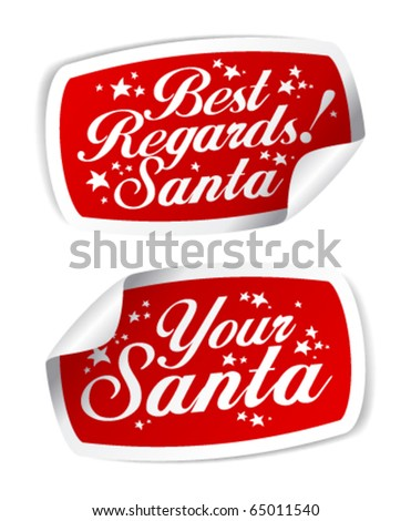 Greeting Stickers from Santa.