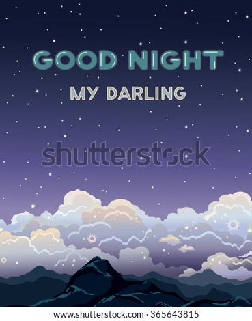 greeting vector card with text