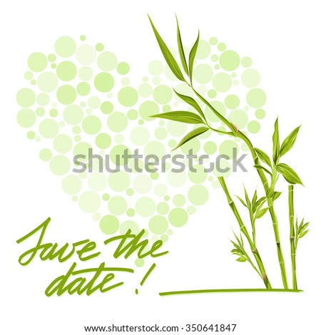 Greeting wedding card with flower. Vector illustration #350641847
