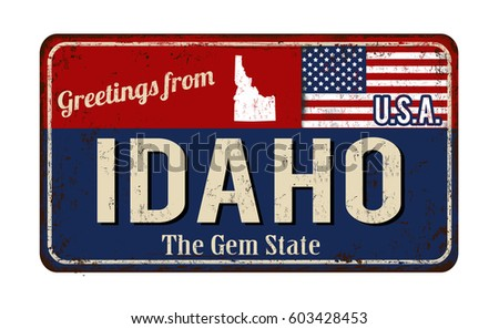 greetings from idaho vintage...