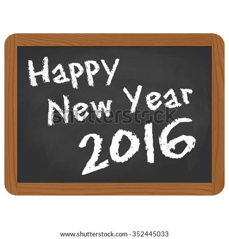 greetings on school slate with text Happy New Year 2016 Shutterstock ...