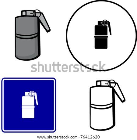 grenade hand explosive illustration sign and symbol - stock vectorExplosive Symbol Vector