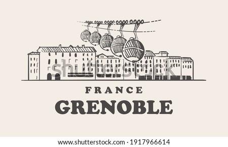 grenoble skyline  france