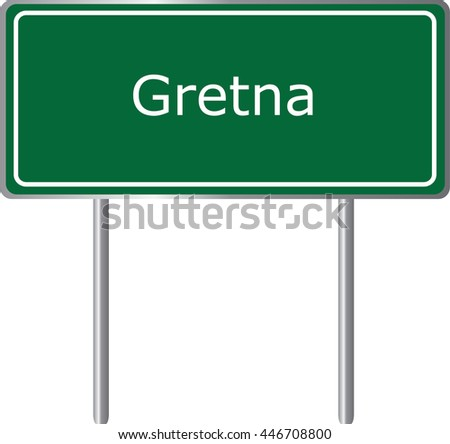 gretna   florida  road sign
