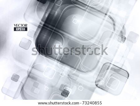 Grey abstract digital background. Vector