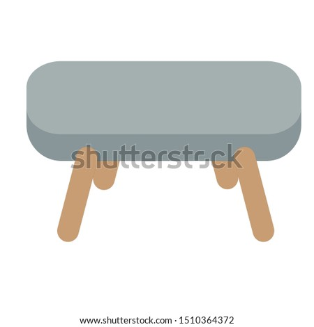 Grey and brown sofa. Flat design icon vector illustration.