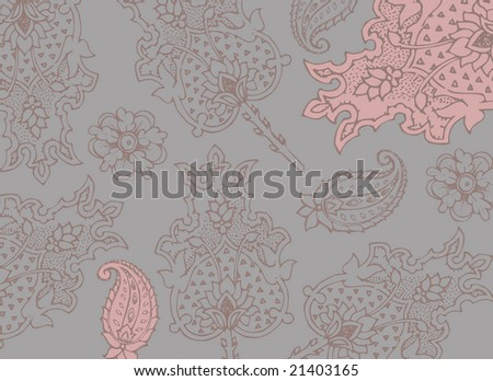 rose ornamental background suitable for wedding invitation stationary