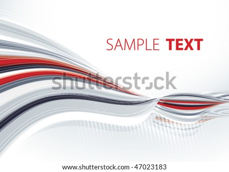 Grey and red template. Vector