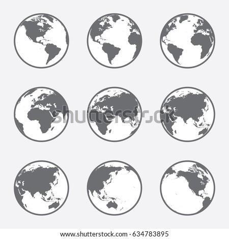 grey and white  flat vector