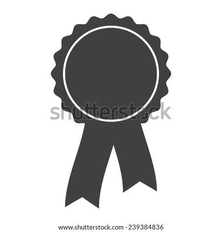 grey award rosette with ribbon ストックフォト ©