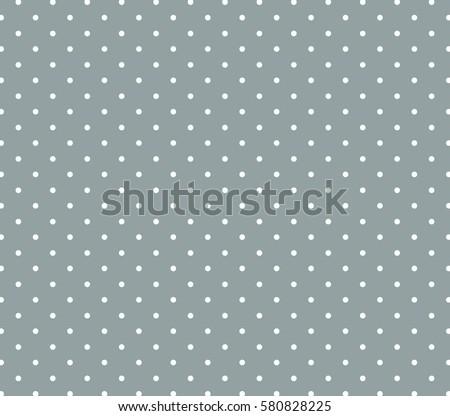Grey background polka dot pattern. Polka dot pattern.