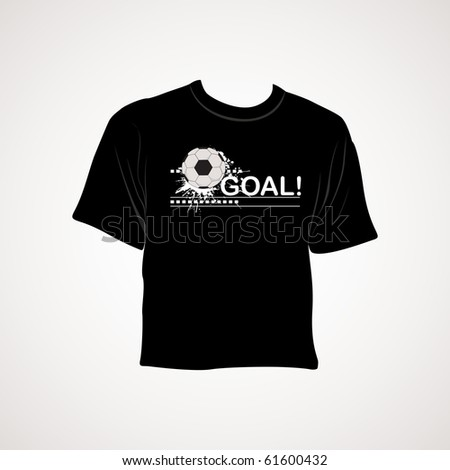 grey background with isolated black sports tshirt