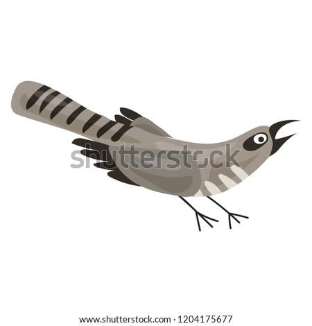 grey bird icon cartoon of grey