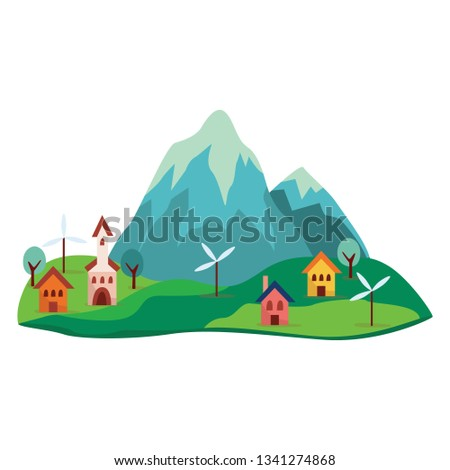 grey  blue cartoon mountain and