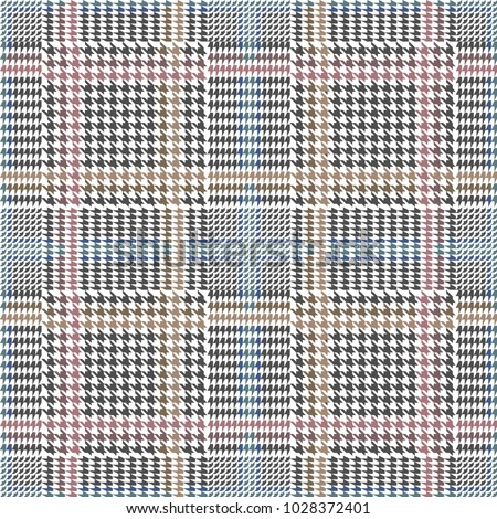 grey checkered hounds tooth