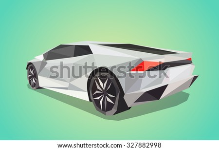 grey conceptual sport car on