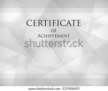 grey crystalline certificate