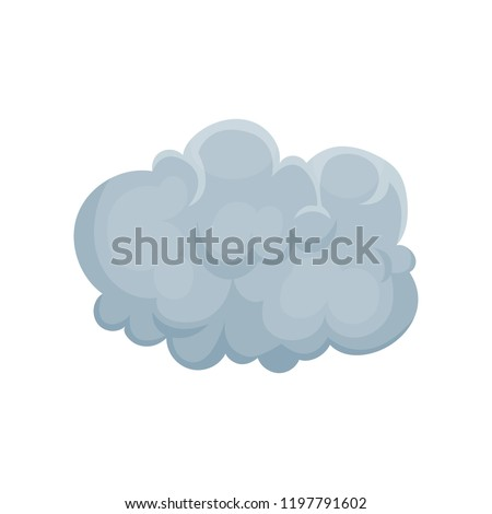 grey cumulus cloud vector