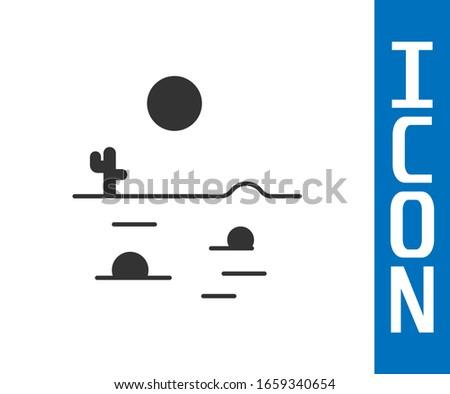 grey desert landscape with