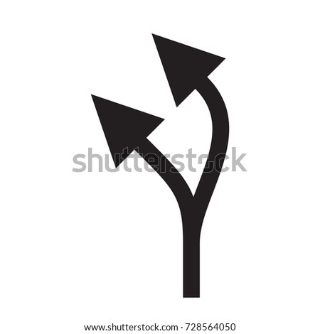 Grey double arrow up and left