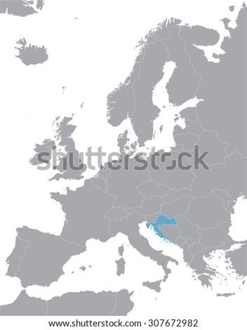 grey europe vector map with