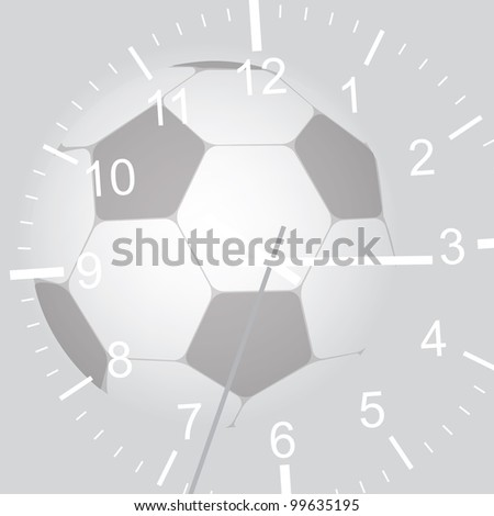 Grey football abstract background with watch